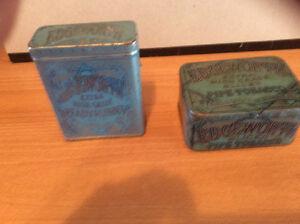 2 Edgeworth tobacco tins