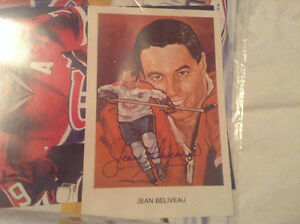 Carte de hockey signer jean Béliveau West Island Greater Montréal image 1