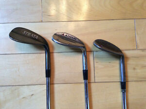 Golf Clubs - Wedge Set - 52, 56 and 60 degree wedges