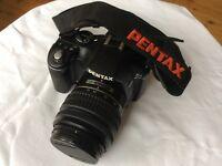 Pentax K-x 12.4MP Digital SLR black with 18-55mm Pentax lens