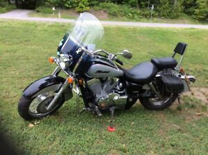 Ready for the road. This 2004 Honda Shadow 750cc
