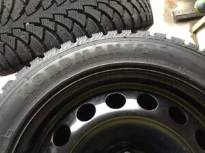 205/55/16 Nokian Nordman Winter Tires and Rims