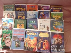 VHS cassettes Walt Disney and more