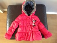 Girls Disney Minnie Mouse coat jacket