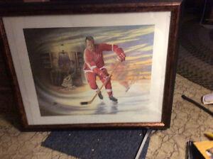 Mr. Hockey 3 dimensional autographed official print Gordie Howe Cornwall Ontario image 1
