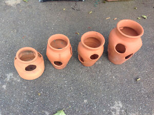 Clay pots for plants-  from $5 to $15