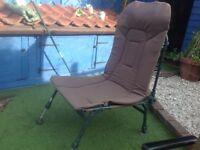 High back fishing chair