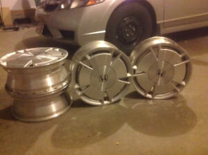 15-inch Honda Custom Steel Alloy rims - great condition!