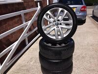 Winter tyres & nearly new alloys for Jaguar X Type