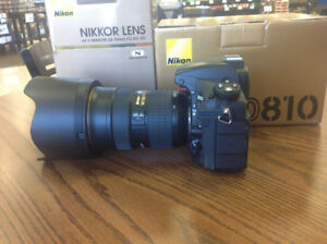 NIKON D810 and 24-70mm f2.8 G both like new in box w warranty