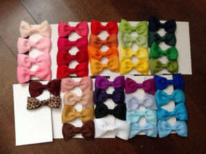 Handmade ribbon flower hair clips 7 for $10.00