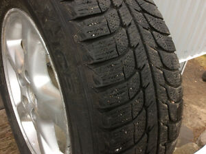 235 60 R16 Michelin X ice snow tires and rims Kawartha Lakes Peterborough Area image 2