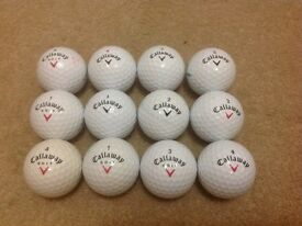12 CALLAWAY DIABLO GOLF BALLS IN ABSOLUTELY MINT CONDITON