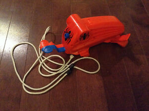 Spider man shoot and retract cord (web) toy