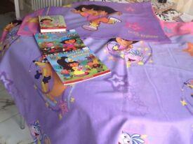 Dora explorer bedding and books