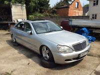 Mercedes s320 limo spares or repairs NO KEYS stolen recovered