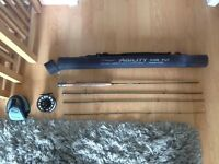 "Shakespeare Agility Rise Fly 9"" #5 and Sonik sks 5/6 reel"