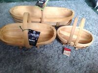 Wooden trugs