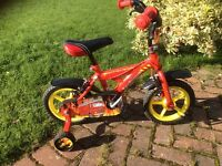 12 in boy's bike with stabilisers.