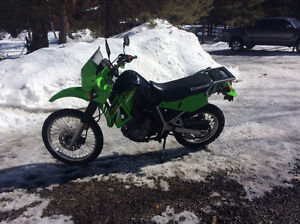 Great condition KLR dual Sport motocycle