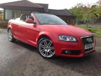 Audi A3 Cabriolet 2.0TDI S Line CONVERTIBLE ,92K, 58 REG, 2 PREV LADY OWNERS