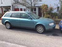 Audi A6 2000 model estate 2.5 petrol starts drives great fully loaded don't miss out cheap runner !!
