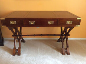 Napoleon Campaign Desk - Wood and Brass