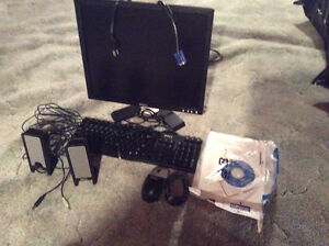 Monitor, keyboard,mouse, speakers