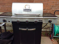 Cuisinart Stainless Steel Bbq with side burner. 3 years old $175
