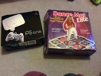 Ps One and dance mat
