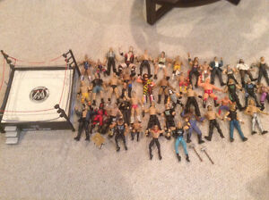53 wwe wrestling figures and ring