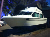REINELL 30FT BOAT WITH TWO BRAND NEW ENGINES 0 HOURS