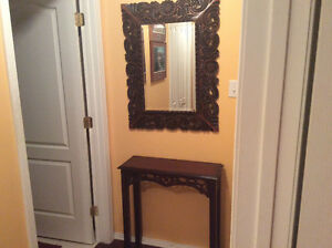 Bombay Accent Table and Mirror