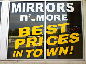 Mirrors N'More Outlet 40 Snidercroft Rd,Unit 8 opposite Improve.