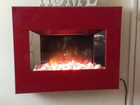 Red Electric wall fire