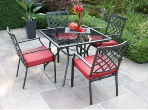 5PC HOMETRENDS PATIO DINING SET, new