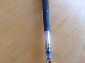 HOWSON HUNTER NUMBER 3 IRON RIGHT HANDED. STEEL SHAFT WITH HOWSON BLACK AND BLUE GRIP.