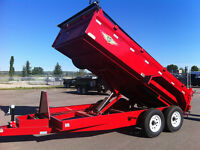 NEW Industrial Grade Dump Trailers (7TON) - ONLY $ 9,995.00