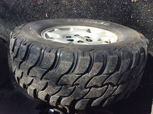 "4SALE:Chevy 17x9 rims with 33"" Trail Diggers"