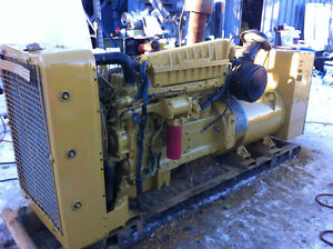 225KW 480volt Cat 3306 skid mounted generator unit runs great