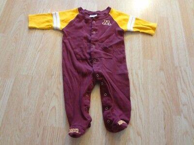 Infant Baby Minnesota Gophers 0 3 Mo Footies Pajamas Pjs Pro Edge