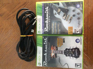 Rocksmith & Rocksmith 2014 with cable Xbox 360
