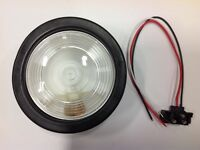 "Jetco 4""Clear White Round Back Up Sealed Lamp KIT"