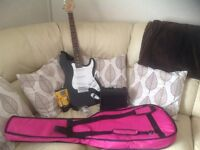 Guitar and Practice Amp with accessories