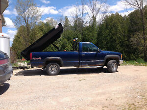 3500 chev with plow and slide in dump box Cambridge Kitchener Area image 2