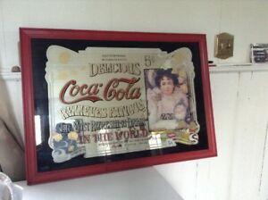 Coca Cola Framed Mirror