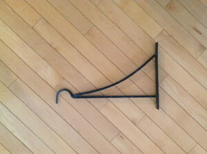 Wrought iron planter hook