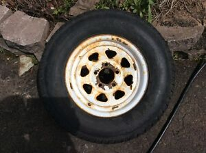 """14"""" 5 BOLT TRAILER TIRE (GOOD FOR SPARE ONLY)"""