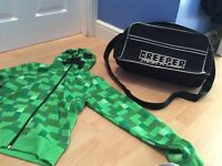 Mincraft hoddy and bag