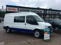 2013 13 FORD TRANSIT 2.2 350 DCB 6 SEATER CREW VAN LOW MILES CHOICE DIESEL